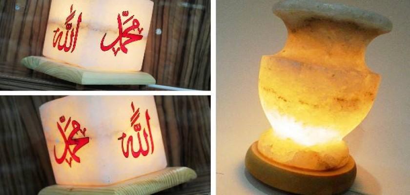 Abajur Tasarım Tuz Lambası