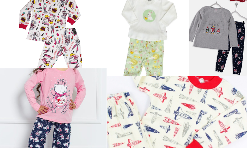 Sevimli ve Neşeli Kahramanlarla Süslü Pijama Setleri
